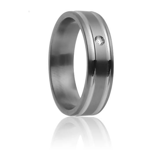 Alliance Méliades 7 mm, Titanium, Or Blanc et Diamant