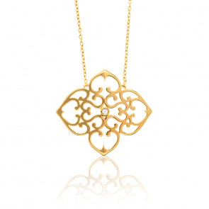 Collier Trèfle Vermeil Or jaune & Diamant