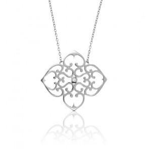 Collier Trèfle Argent & Diamant