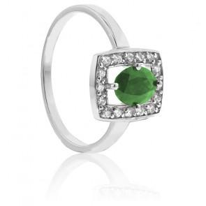 Bague Shaylee Emeraude & Diamants