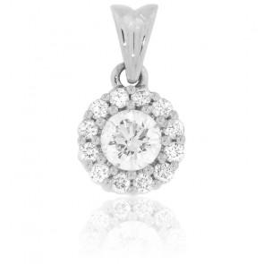 Pendentif Lorelei Or Blanc & Diamants