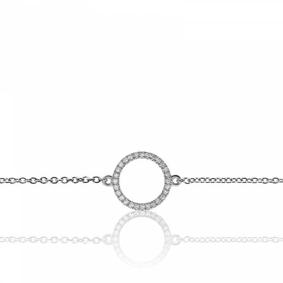 Bracelet Circle Or Blanc \u0026 Diamants