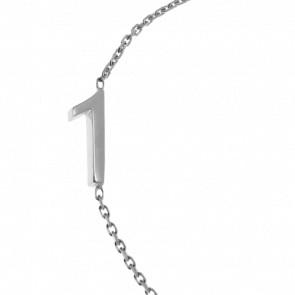 "Bracelet Chiffre ""1"" Or Blanc"