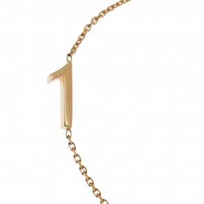 "Bracelet Chiffre ""1"" Or Jaune - Second Effect"