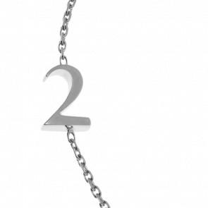 "Bracelet Chiffre ""2"" Or Blanc"