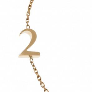 "Bracelet Chiffre ""2"" Or Jaune"