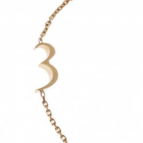 "Bracelet Chiffre ""3"" Or Jaune - Second Effect"