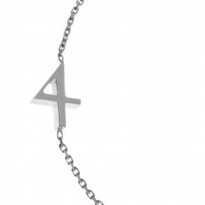 "Bracelet Chiffre ""4"" Or Blanc"