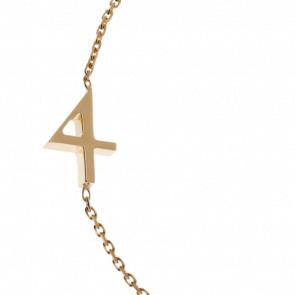 "Bracelet Chiffre ""4"" Or Jaune - Second Effect"