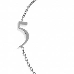 "Bracelet Chiffre ""5"" Or Blanc"