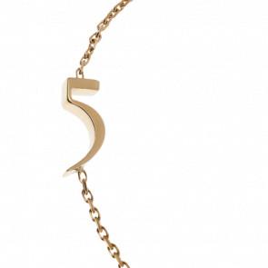 "Bracelet Chiffre ""5"" Or Jaune"