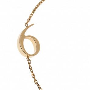 "Bracelet Chiffre ""6"" Or Jaune - Second Effect"