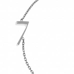 "Bracelet Chiffre ""7"" Or Blanc"