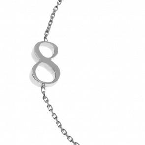 "Bracelet Chiffre ""8"" Or Blanc"