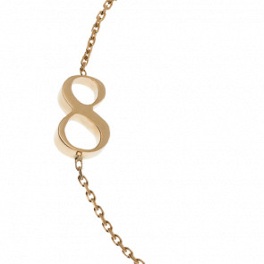 "Bracelet Chiffre ""8"" Or Jaune"