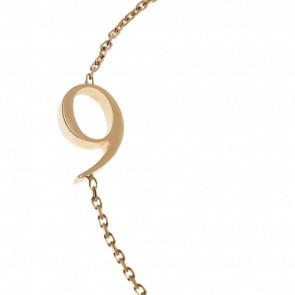 "Bracelet Chiffre ""9"" Or Jaune - Second Effect"