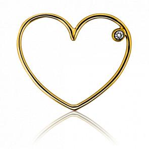 Pendentif Simply Coeur Or Jaune et Diamant - Ocarat