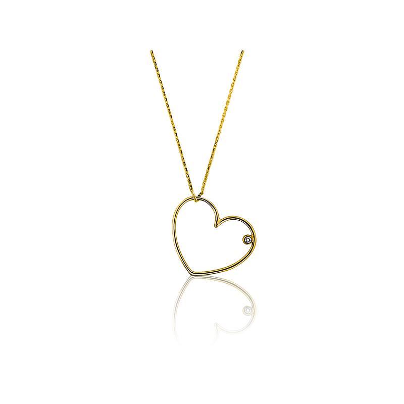 pendentif simply coeur or jaune pendentif en or blanc 18 carat et diamant de carat ocarat. Black Bedroom Furniture Sets. Home Design Ideas
