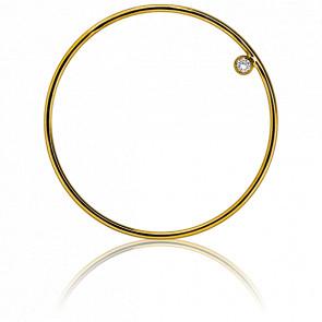 Pendentif Simply Circle Or Jaune et Diamant Ø31 mm - Ocarat
