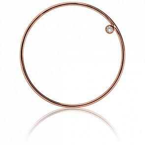 Pendentif Simply Circle Or Rose et Diamant Ø 31 mm - Ocarat