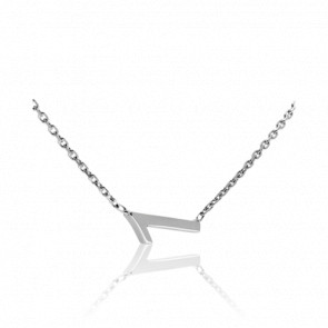 """Collier Chiffre """"1"""" Or Blanc"""