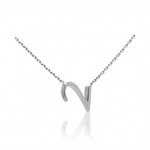 """Collier Chiffre """"2"""" Or Blanc"""