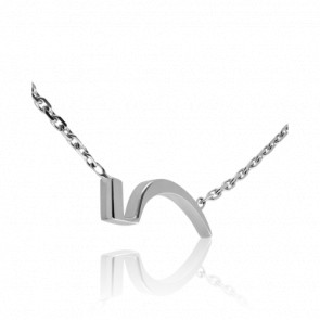 "Collier Chiffre ""5"" Or Blanc"