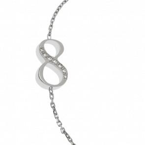 """Bracelet Chiffre """"8"""" Or Blanc et Diamants"""