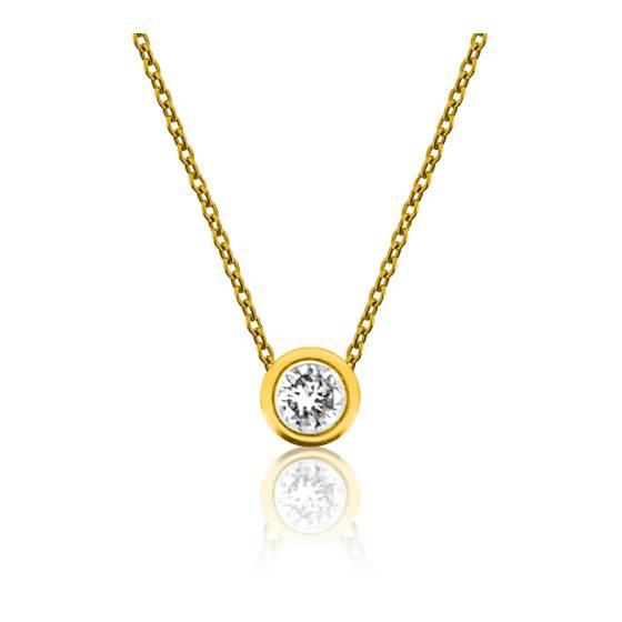 collier or jaune avec diamant