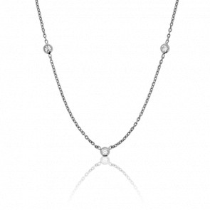 Collier Ronds Clos Or Blanc