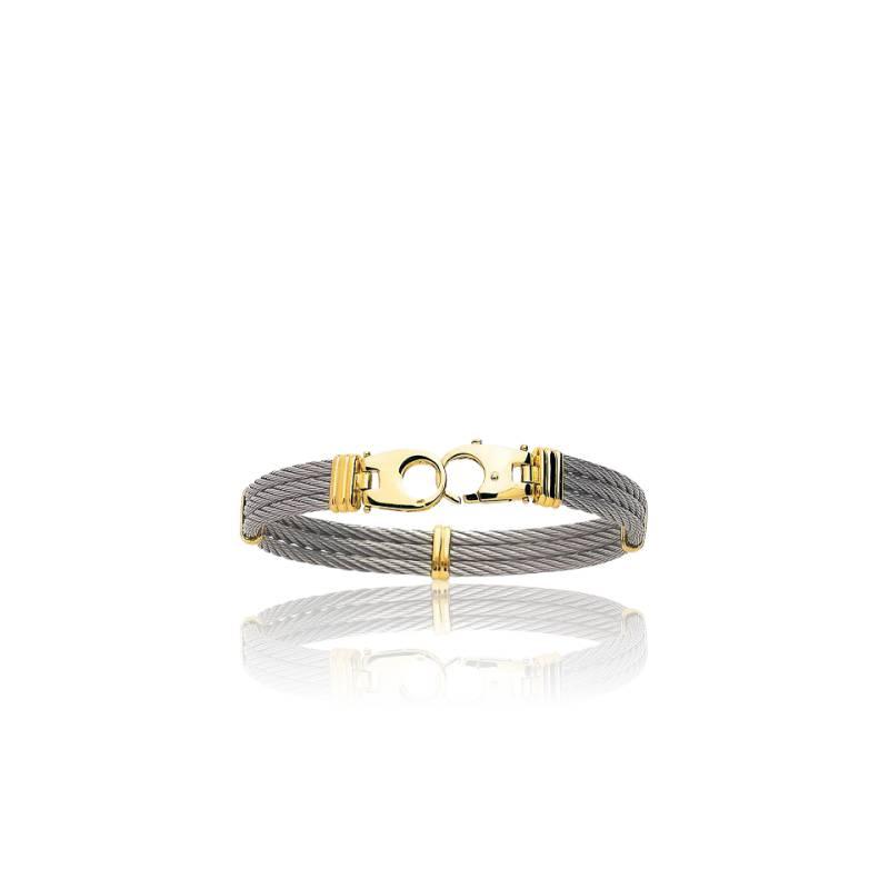 bracelet homme acier et fermoir or 18 carat menottes ocarat. Black Bedroom Furniture Sets. Home Design Ideas