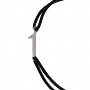 """Bracelet Chiffre """"1"""" Cordon et Argent"""