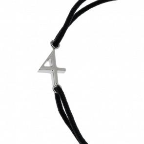 """Bracelet Chiffre """"4"""" Cordon et Argent"""