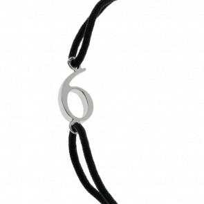 """Bracelet Chiffre """"6"""" Cordon et Argent"""