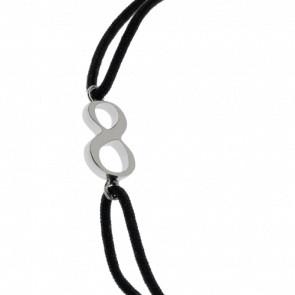 """Bracelet Chiffre """"8"""" Cordon et Argent"""