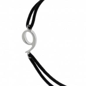 """Bracelet Chiffre """"9"""" Cordon et Argent"""