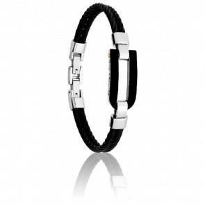 Bracelet Karnak Acier Noir et Or - Guy Laroche