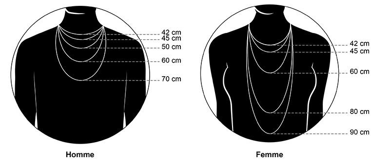 longueur de collier femme