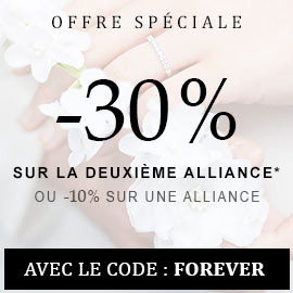 Spécial mariage -30% sur la deuxième alliance*